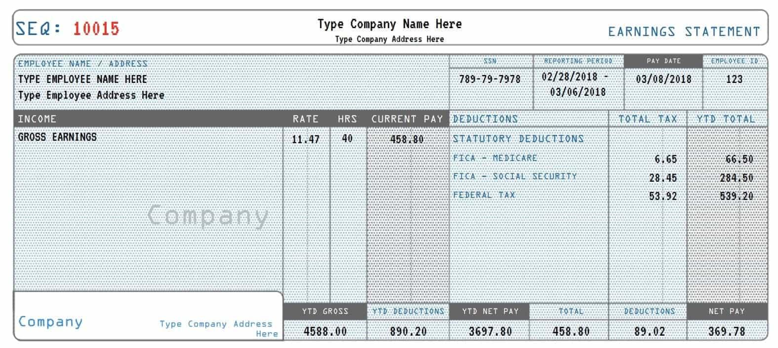 Real Paycheck Stubs | Create Stub