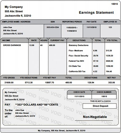 Real Paycheck Stubs Home - Direct deposit pay stub template
