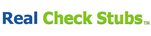Real Check Stub Logo